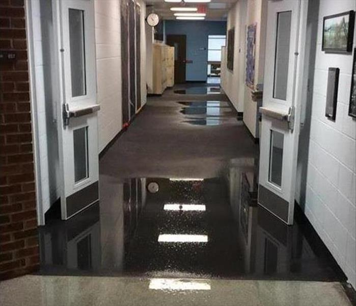 Augusta Offices Flooded from a Line Break