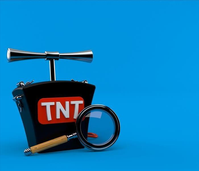 tnt plunger and magnifying glass